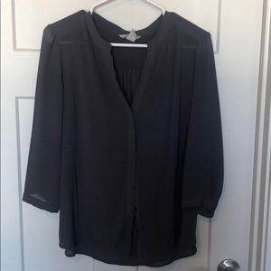 Charcoal Button Up Blouse